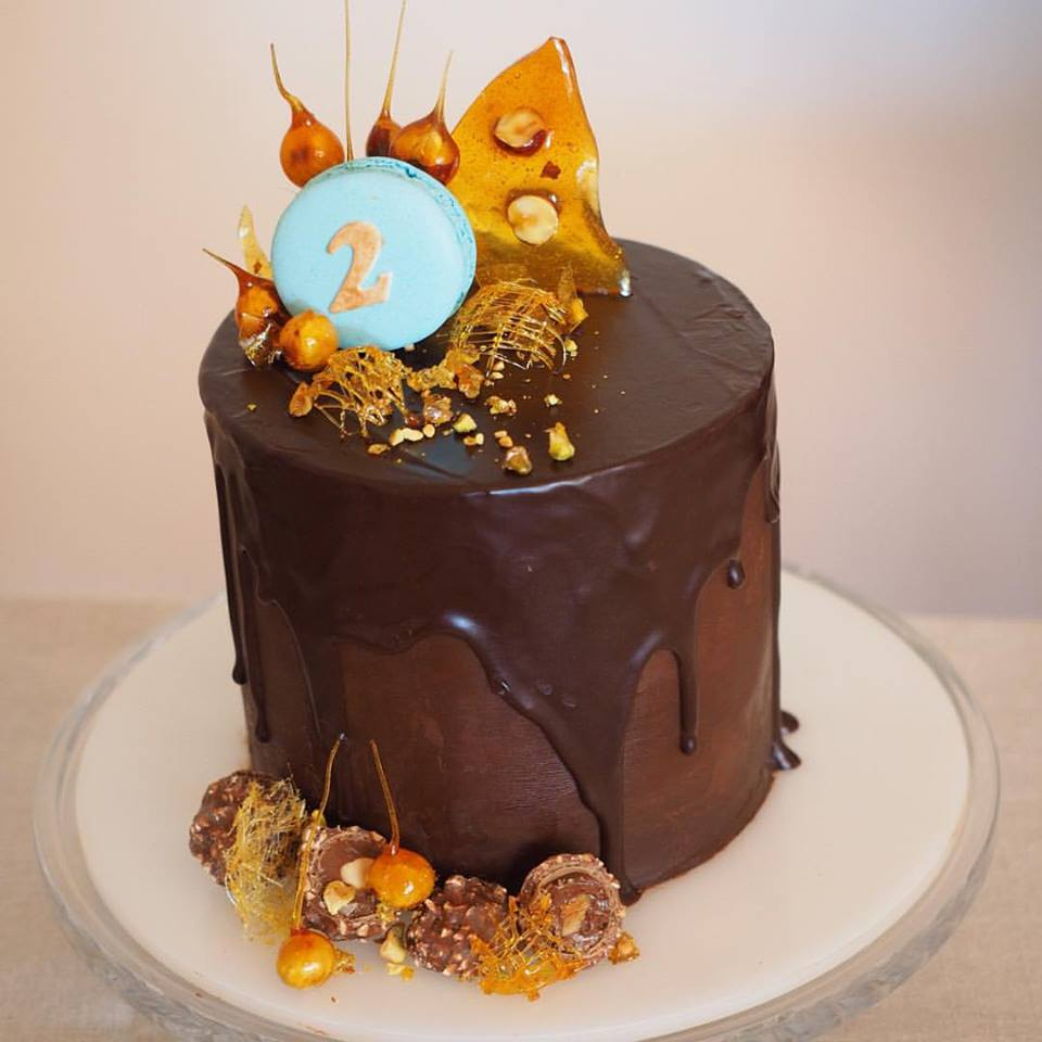 Banana Caramel And Chocolate Cake