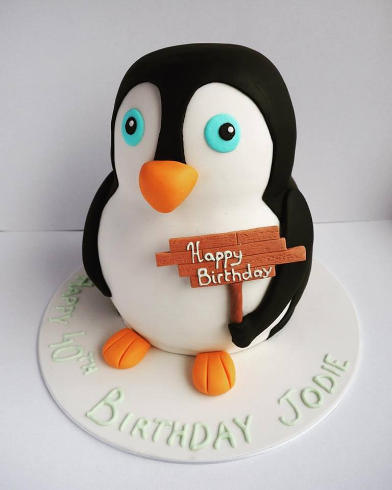 Penguin Cake Topper Birthday